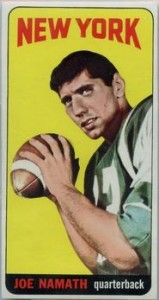 Joe Namath Cards, Rookie Cards and Autographed Memorabilia Guide 1