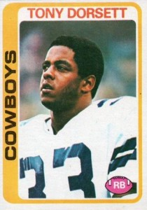 1978 Topps Football Tony Dorsett RC