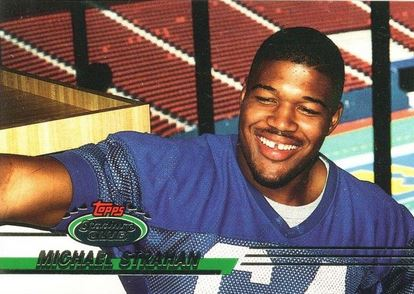 1993 Stadium Club Michael Strahan RC Error