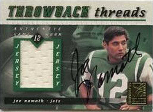 Joe Namath Cards, Rookie Cards and Autographed Memorabilia Guide 21