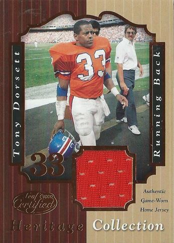 2000 Leaf Heritage Collection Tony Dorsett