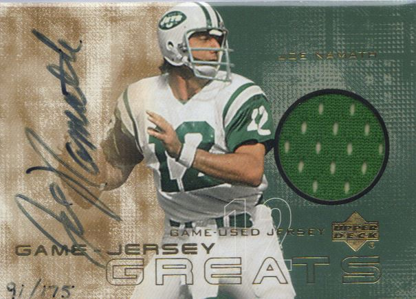 Joe Namath Cards, Rookie Cards and Autographed Memorabilia Guide 25