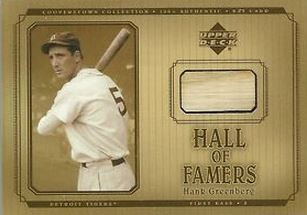 2001 UD Hall of Fame Hank Greeberg Bat Relic