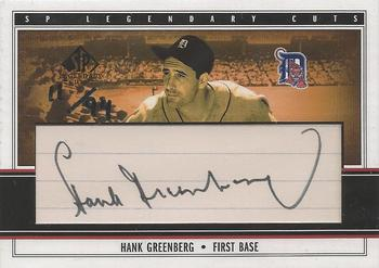 2002 SP Legendary Cuts Hank Greeberg