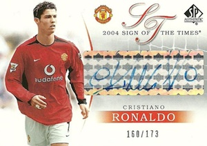 2004-05 SP Authentic Manchester United Sign of the Times Cristiano Ronaldo