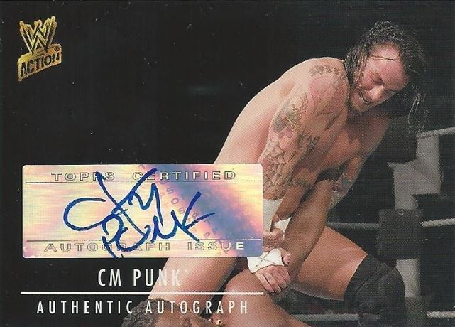 2007 Topps WWE Action CM Punk Auto
