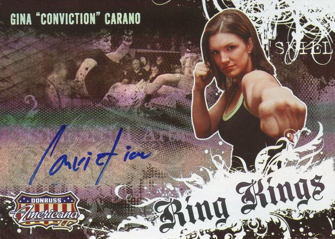 Gina Carano MMA Cards and Autographed Memorabilia Guide 2