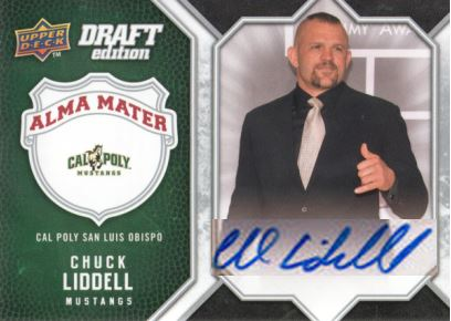 2009-10 UD Draft Edition Alma Mater Chuck Liddell Auto