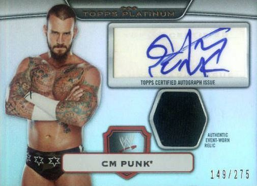 CM Punk Cards and Autographed Memorabilia Guide 4