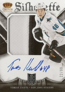 2013-14 Panini Crown Royale Tomas Hertl RC #185 Autographed Jersey