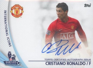 2013-14 Topps Premier Gold International Icons Autographs Cristiano Ronaldo