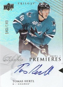 2013-14 Upper Deck Trilogy Update Tomas Hertl RC Level 1
