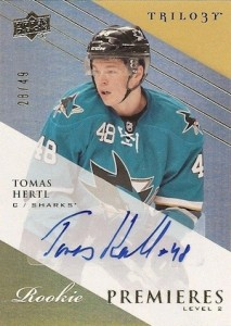 2013-14 Upper Deck Trilogy Update Tomas Hertl RC Level 2
