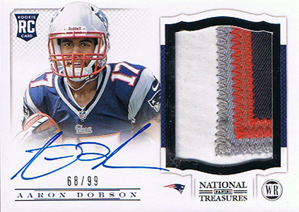 2013 Panini National Treasures Rookie Patch Autograph 201 Aaron Dobson
