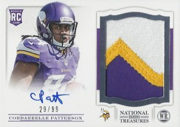 2013 Panini National Treasures Rookie Patch Autograph 204 Cordarrelle Patterson