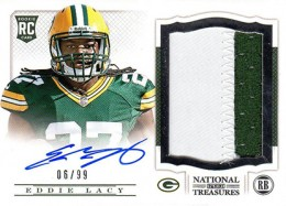 2013 Panini National Treasures Rookie Patch Autograph 208 Eddie Lacy