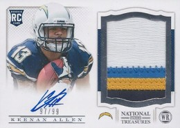 2013 Panini National Treasures Rookie Patch Autograph 217 Keenan Allen