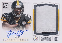 2013 Panini National Treasures Rookie Patch Autograph 221 LeVeon Bell