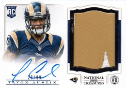 2013 Panini National Treasures Rookie Patch Autograph 235 Tavon Austin