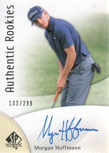 2014 SP Authentic Gold Authentic Rookies Autographs 102 Morgan Hoffmann