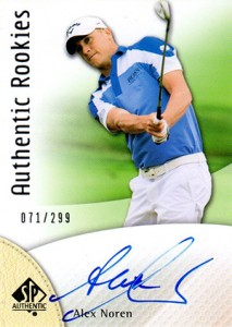 2014 SP Authentic Gold Authentic Rookies Autographs 106 Alex Norren