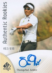2014 SP Authentic Gold Authentic Rookies Autographs 109 Thongchai Jaidee