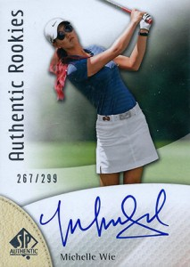 2014 SP Authentic Gold Authentic Rookies Autographs 111 Michelle Wie