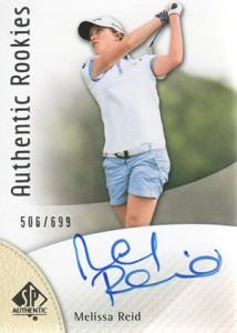 2014 SP Authentic Gold Authentic Rookies Autographs 84 Melissa Reid