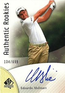 2014 SP Authentic Gold Authentic Rookies Autographs 85 Edoardo Molinari