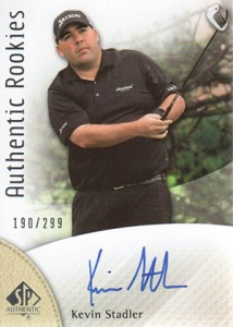 2014 SP Authentic Gold Authentic Rookies Autographs 87 Kevin Stadler