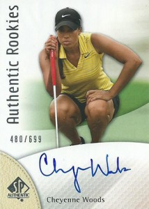 2014 SP Authentic Gold Authentic Rookies Autographs 88 Cheyenne Woods