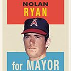 2014 Topps For Mayor Baseball Wall Art