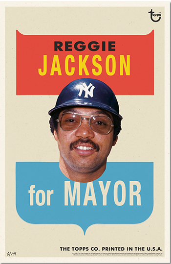 2014 Topps For Mayor Baseball Wall Art 23