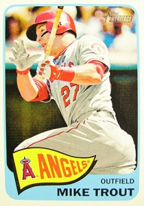 2014 Topps Heritage Baseball Action Variations 250 Mike Trout