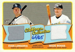 2014 Topps Heritage Baseball Clubhouse Collection Dual Relics