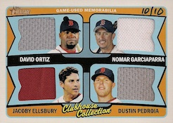 2014 Topps Heritage Baseball Clubhouse Collection Quad Relics