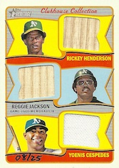 2014 Topps Heritage Baseball Clubhouse Collection Triple Relics
