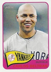 2014 Topps Heritage Baseball Error Variation Carlos Beltran Red Text