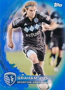 2014 Topps MLS 120 Graham Zusi Blue