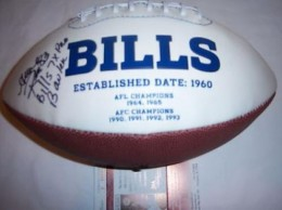 Andre Reed Signed Football