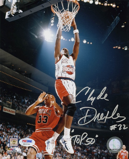 Clyde Drexler Cards and Memorabilia Guide 24