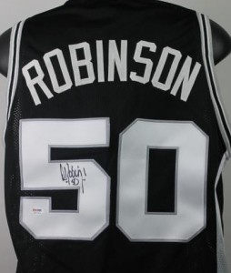 David Robinson Signed Jersey