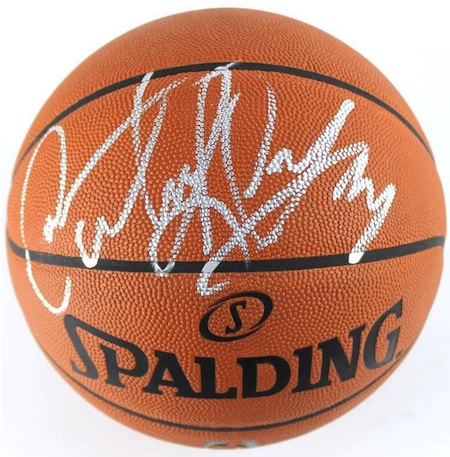 Dennis Rodman Signed Basketball