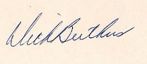 Dick Butkus Signature Example