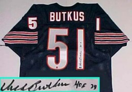 Dick Butkus Signed Jersey