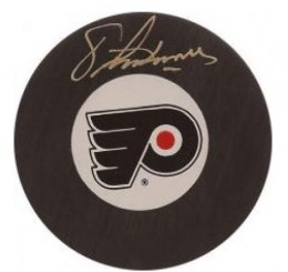 Eric Lindros Signed Puck