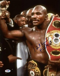 Evander Holyfield Boxing Cards and Autographed Memorabilia Guide 22