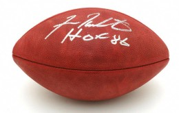 Fran Tarkenton Signed Football