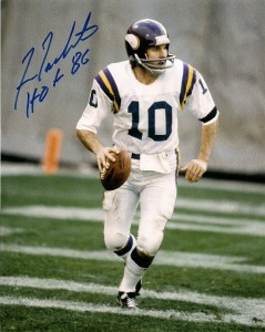 Fran Tarkenton Signed Photo
