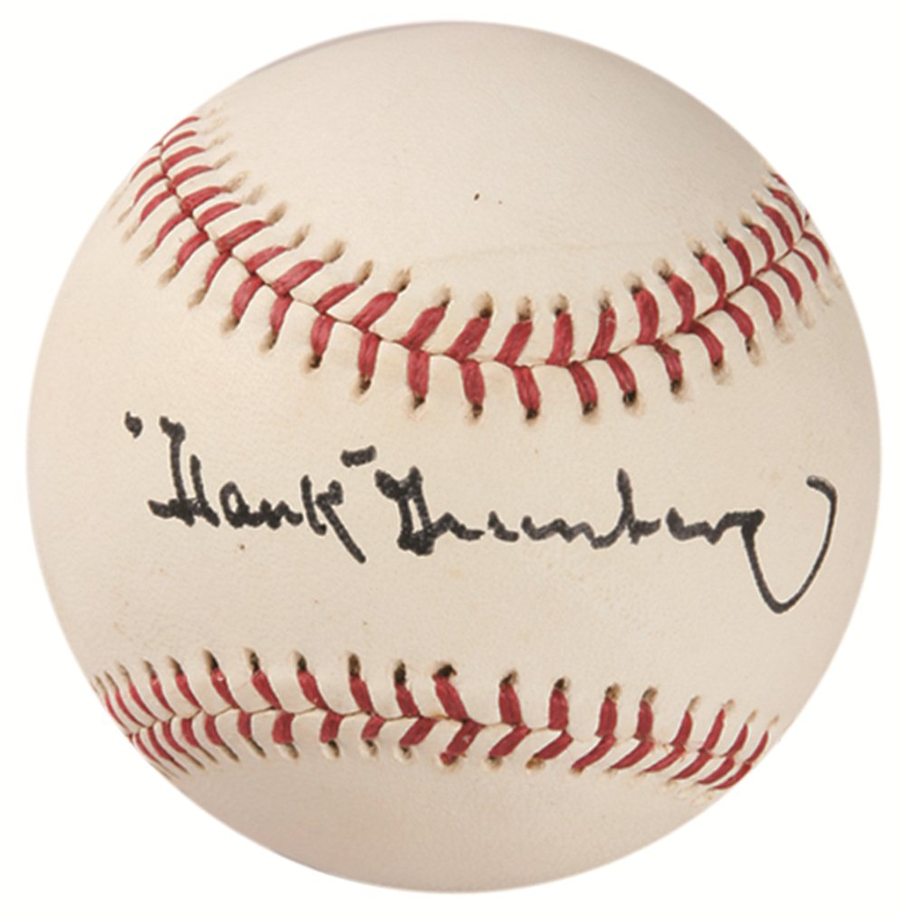 Hank Greenberg Signed Baseballs